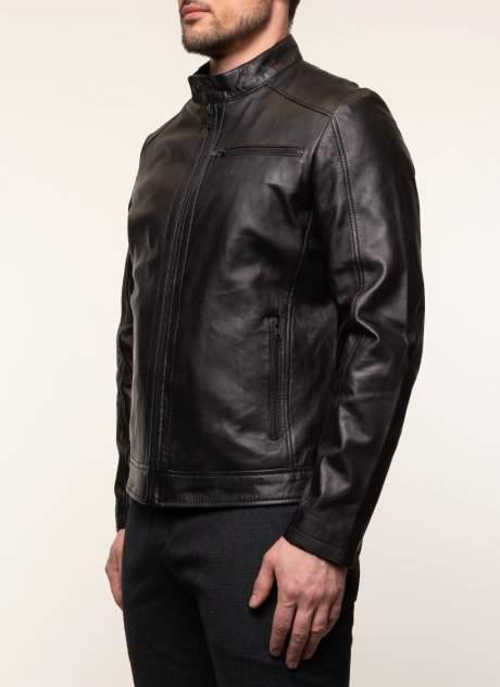 Кожаная куртка мужская Каляев 1561024 черная 56 RU
