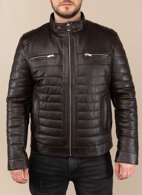 Мужская кожаная куртка Каляев 1562023, коричневый