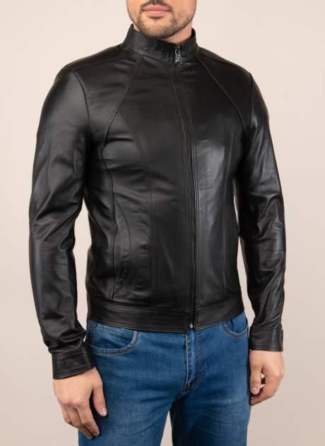 Мужская кожаная куртка Каляев 1565169, черный