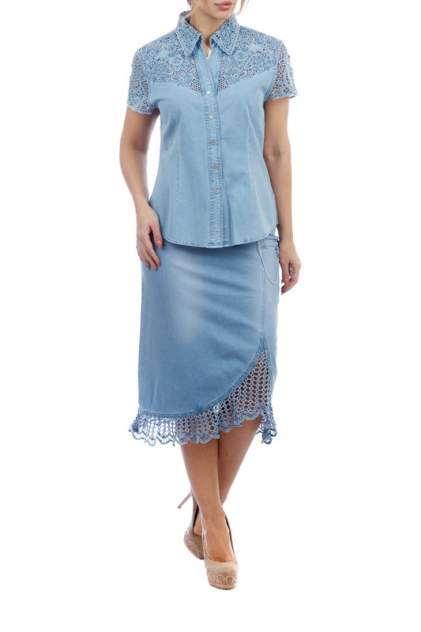 Рубашка женская LAFEI-NIER G34626R-J голубая XL