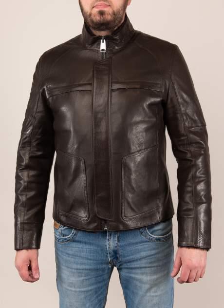 Дубленка мужская Каляев 1573172 коричневая 50 RU