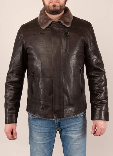 Дубленка мужская Каляев 1573184 коричневая 52 RU