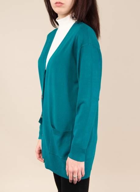 Кардиган женский Каляев 1576402 зеленый 50-52 RU
