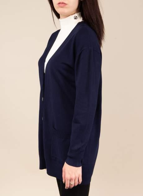 Кардиган женский Каляев 1576402 синий 50-52 RU