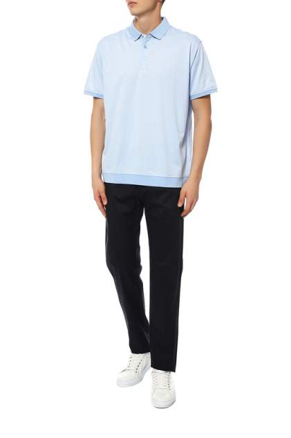 Рубашка мужская La Biali В9836-1/119-16 голубая голубая 4XL