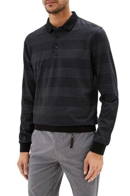 Лонгслив-поло мужской La Biali L9231-1/219-1 (черный) черный 4XL