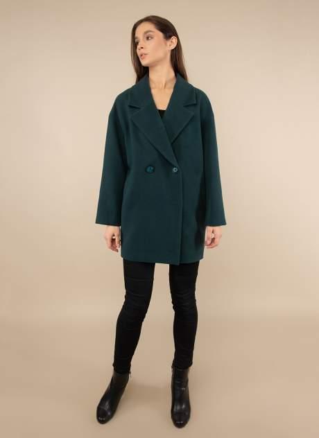Пальто женское Каляев 1488191 зеленое 48 RU