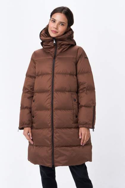 Пуховик женский GEOX W1426PF6210, коричневый