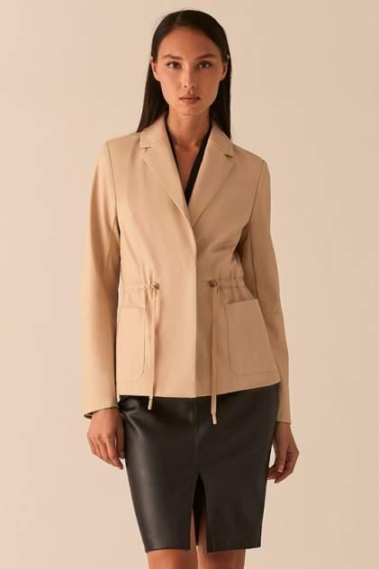 Кожаная куртка женская LOVE REPUBLIC 0357213106/ бежевая 40