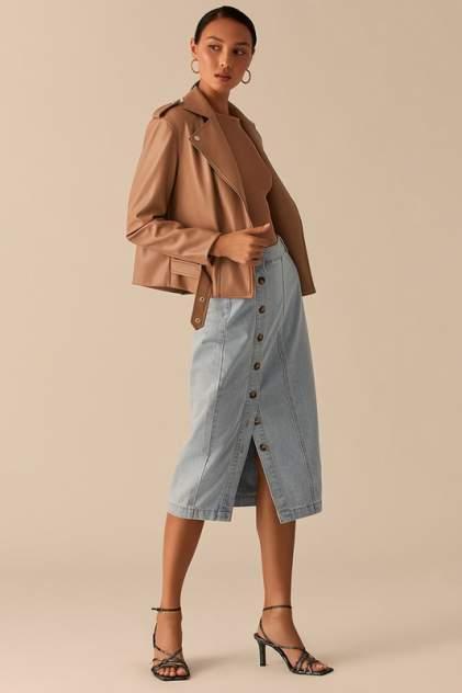 Кожаная куртка женская LOVE REPUBLIC 0358247103/ бежевая 46