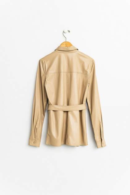 Кожаная куртка женская befree 2031506326 бежевая S