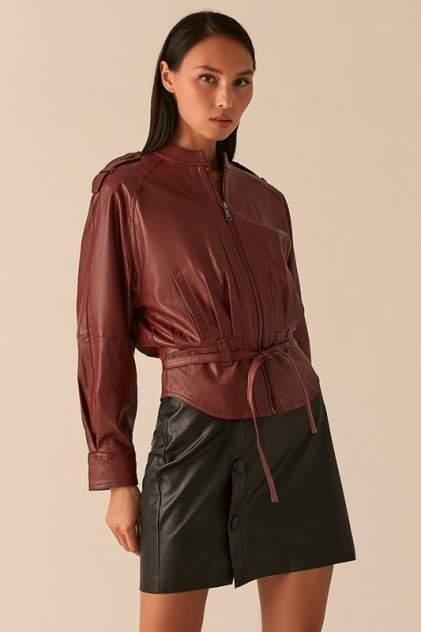 Кожаная куртка женская LOVE REPUBLIC 0358258106/ красная 40