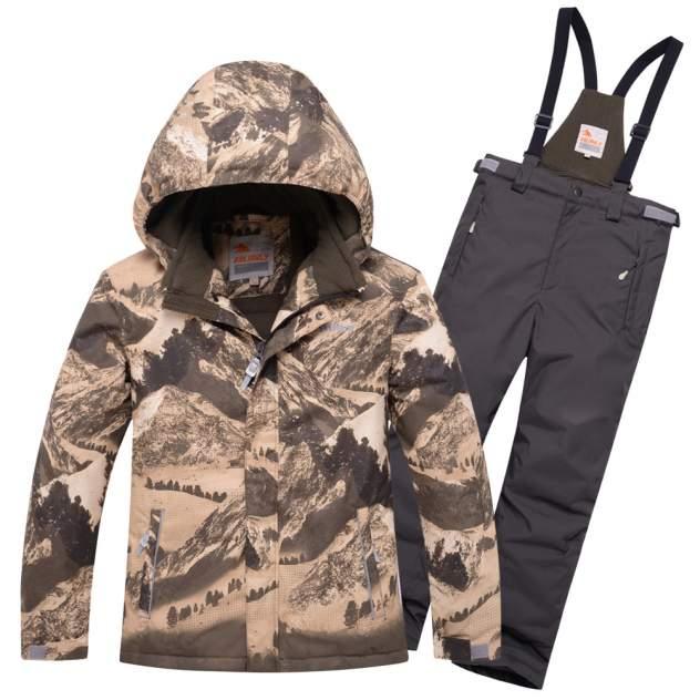 Горнолыжный костюм для мальчика Valianly 9021K коричневый 128