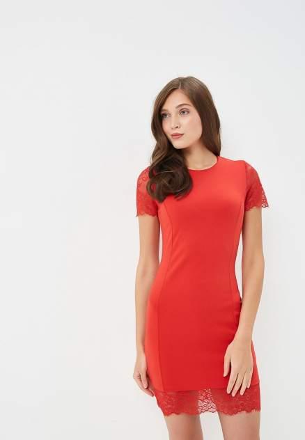Повседневное платье женское Modis M191W00186 красное 46