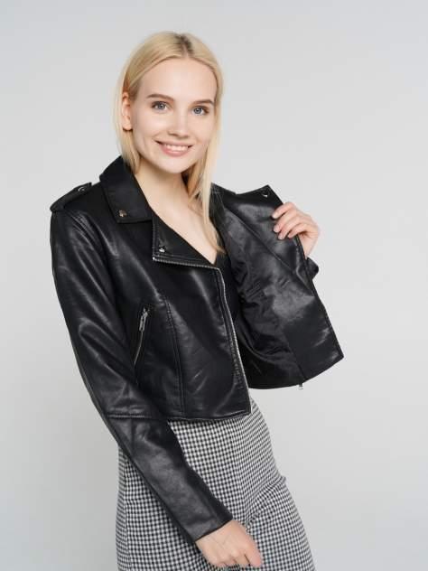 Кожаная куртка женская ТВОЕ A6590 черная XS