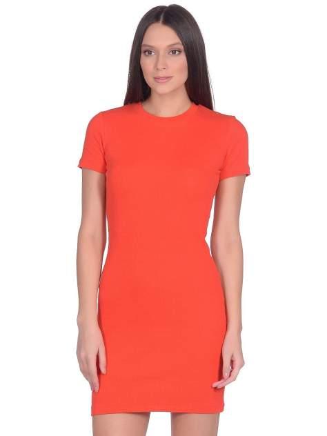 Платье-футболка женское Modis M201W00906 красное 46/ 48