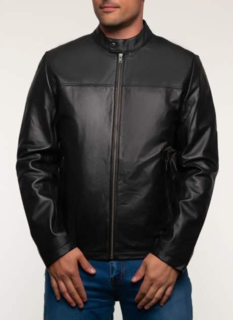 Кожаная куртка мужская Каляев 1582367 черная 60 RU
