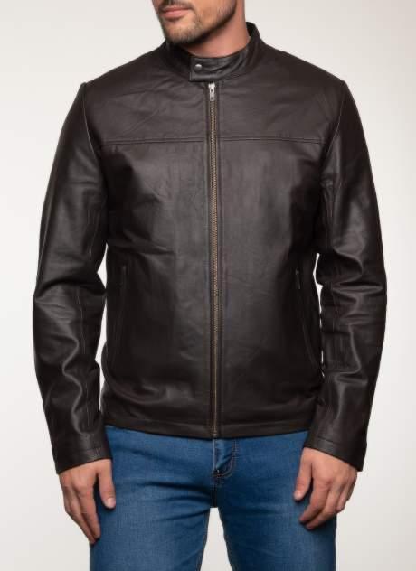 Кожаная куртка мужская Каляев 1582367 коричневая 60 RU