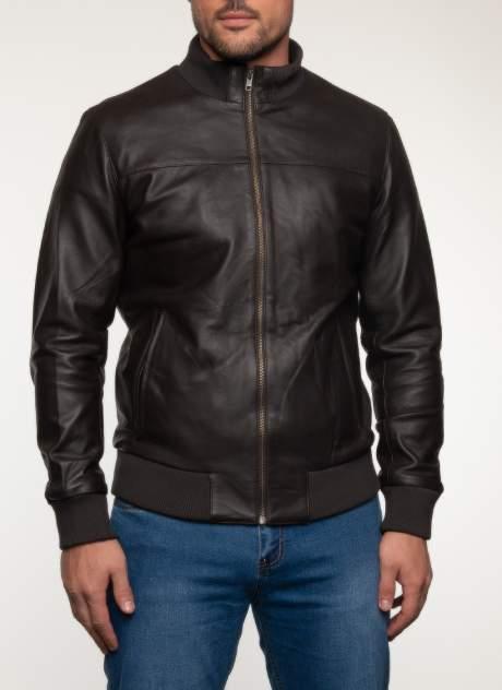 Кожаная куртка мужская Каляев 1582423 коричневая 50 RU