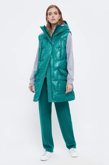 Утепленный жилет женский Finn Flare B21-32055 зеленый 2XL