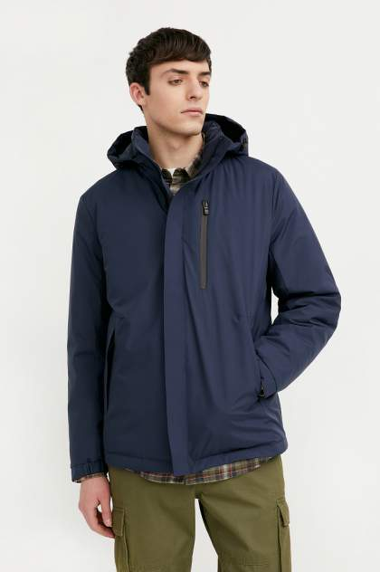 Куртка мужская Finn Flare B21-21006 синяя 3XL