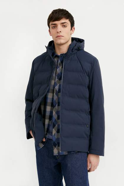 Куртка мужская Finn Flare B21-21004 синяя 3XL