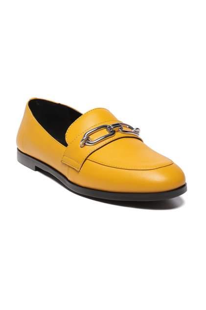 Лоферы женские CESARE GASPARI F434-6874 желтые 38 RU