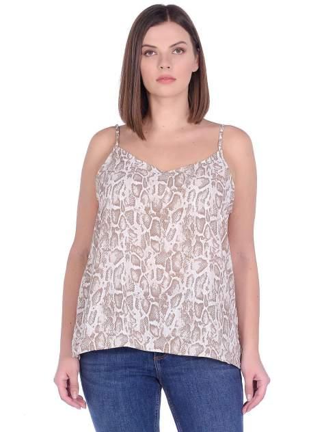 Блуза женская Modis M201W01179 бежевая 4XL