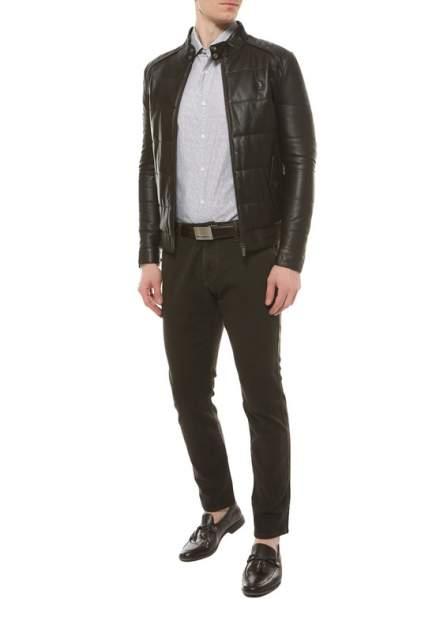 Кожаная куртка мужская U.S. POLO Assn. G081SZ035P01K8013 коричневая 48