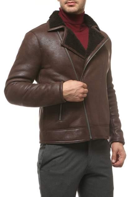 Кожаная куртка мужская U.S. POLO Assn. G081SZ035P01P8020 коричневая 54