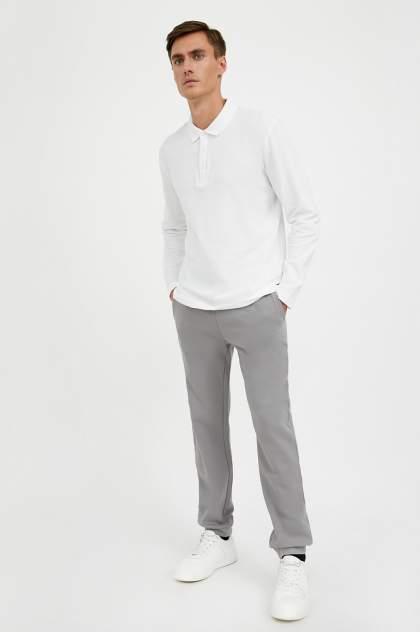 Лонгслив-поло мужской Finn Flare A20-21032 белый 3XL