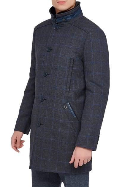 Пальто мужское BAZIONI 2057У M DK GREY CHEK LUX серое 58