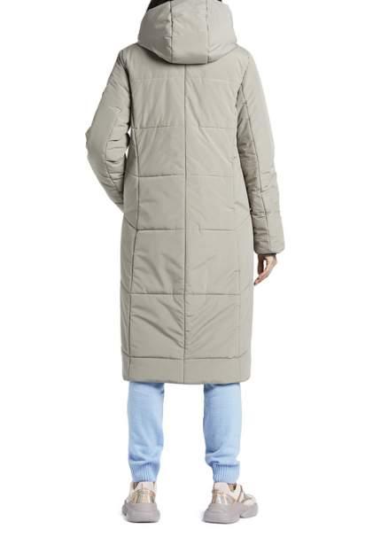 Пуховик-пальто женский D`imma 2028 серый 62