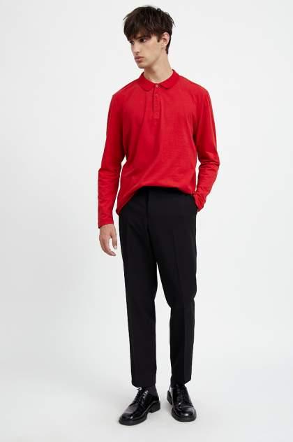 Лонгслив-поло мужской Finn Flare A20-21033 красный 3XL