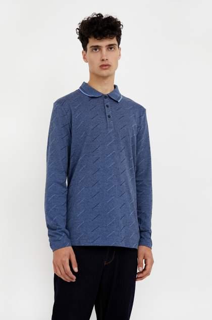Лонгслив-поло мужской Finn Flare A20-42022 синий 3XL