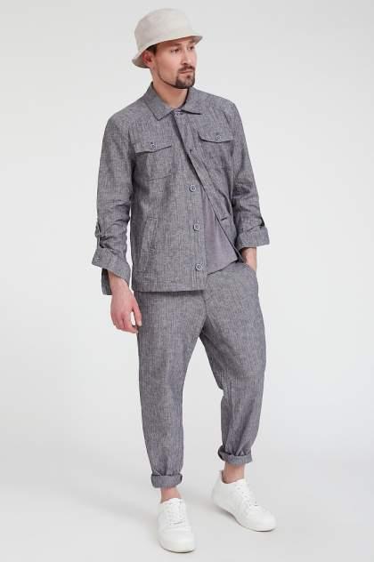 Рубашка мужская Finn Flare S20-24000, синий