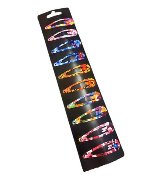 Комплект заколок COSY клик клак цветные NEW 10 шт