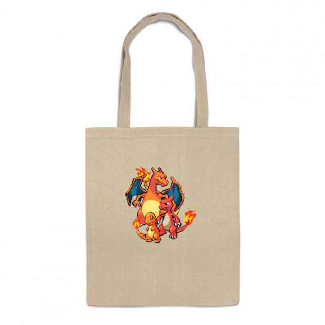 Сумка-шоппер Printio Покемоны 8-бит (драконы)
