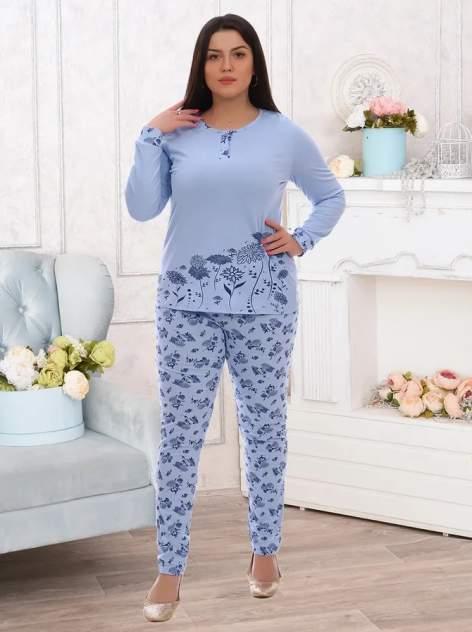 Пижама женская Адель Mila голубая 46