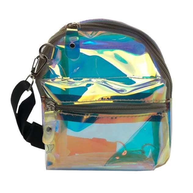 Голографическая сумка-рюкзак Baziator детская для девочки на ремешке K0009A
