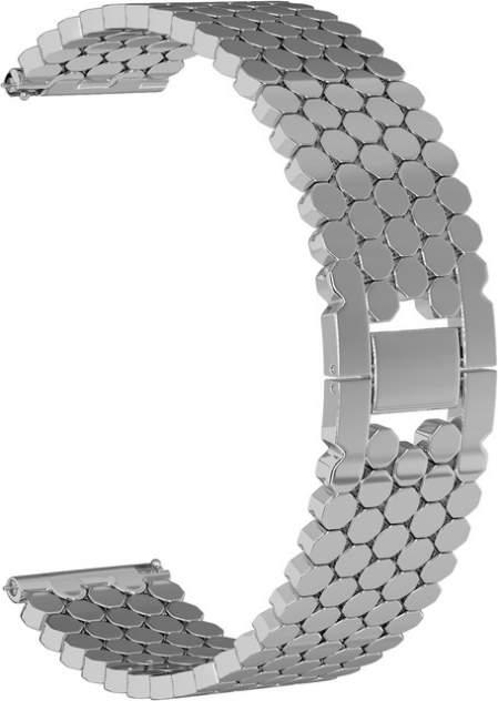 Ремешок для часов GSMIN Snake 22 для GearS3/GalaxyWatch(46mm) Серебристый