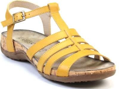 Сандалии женские Airbox 135351 желтые 38 RU