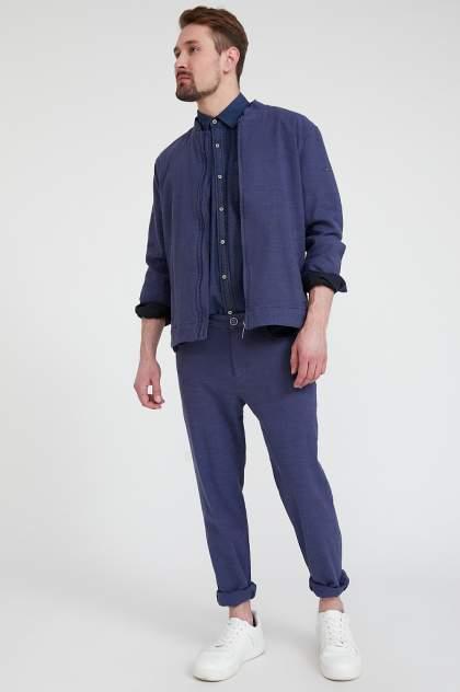 Бомбер мужской Finn Flare S20-21002 синий XL