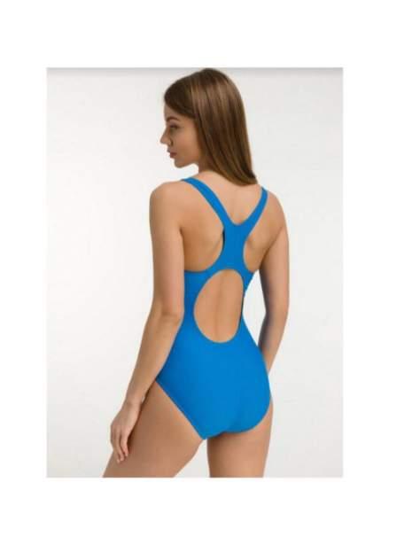 Купальник женский для бассейна, борцовка с вырезом, голубой, р-р 42, BW3 3