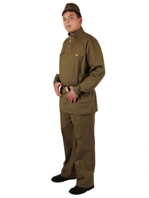 Военный костюм Солдат с прямыми брюками взрослый (хлопок), Вестифика, р. 44-46