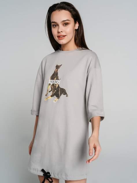 Платье-толстовка женское ТВОЕ 76024 серое L