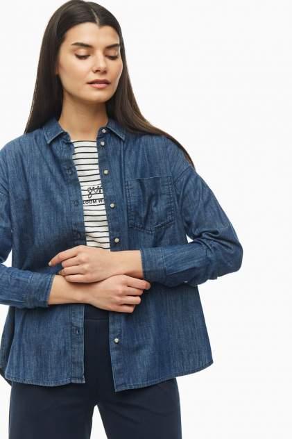 Рубашка женская TOM TAILOR 1018834-10282 синяя 40 DE