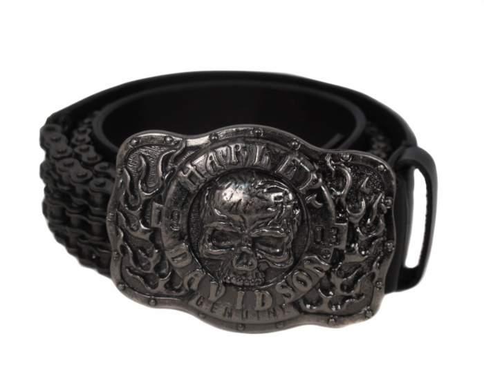 Ремень мужской Harley Davidson 1057151761103 черный