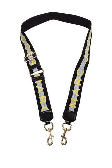 Ремень для сумки женский Marc Jacobs M0014087-098 черный/желтый
