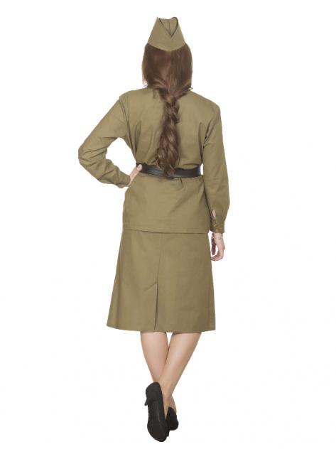 Взрослый женский военный костюм Солдатка (хлопок), Вестифика, р.44-46